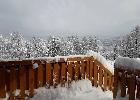 widok z tarasu dolnego-zimą