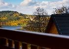 widok z balkonu górnego na jezioro Myczkowieckie