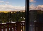 widoki na góry z sypialni dwuosobowej